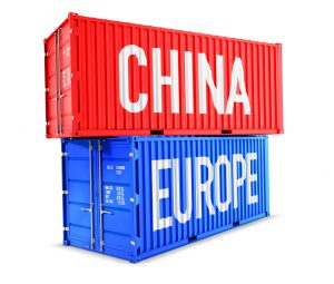 China and Europe signs on containers