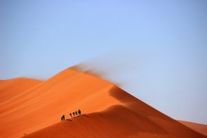 Sand dunes and nomads.