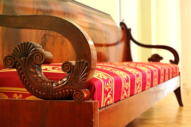 A antique sofa.