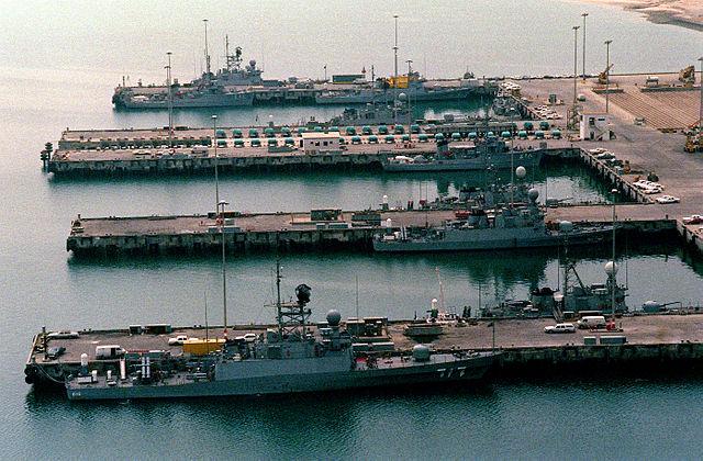 A navy desert sheild in Jubail.