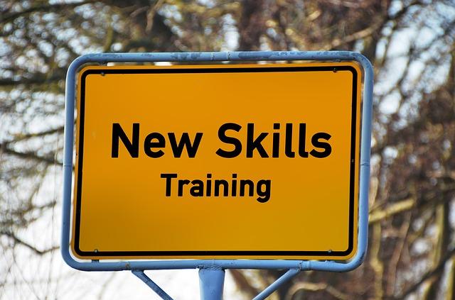 New skills sign.