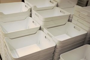 Plastic containers are excellent for storing more expensive items.