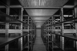 Many warehouses use these shelves.