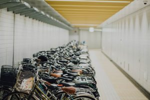 Image of a bicycle storage space