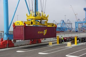 Working with cargo containers is one of the traits of reliable logistics professionals