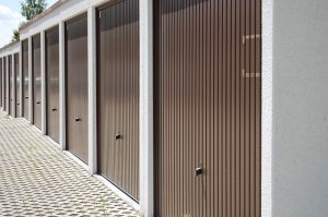 Brown storage doors