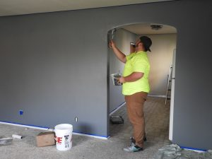 Painter painting walls