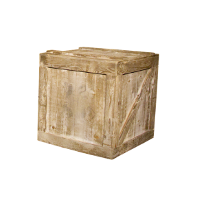 Wooden engine shipping crate