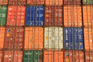 Containers in line