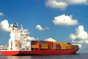 ship carrying shipping containers