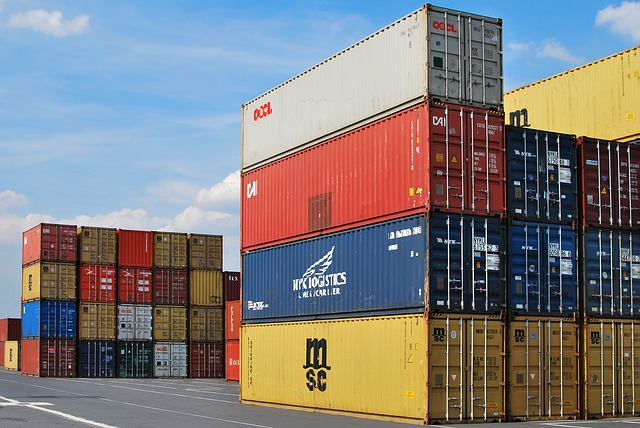 A dock and shipping containers