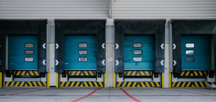 Entrance to a loading dock