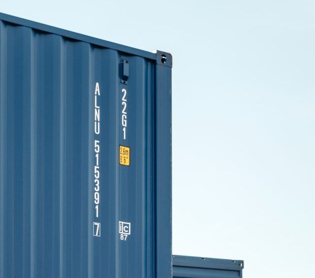 Blue containters