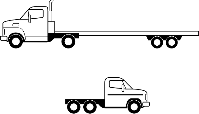 Flatbed truck illustration