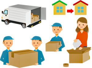 Workers in moving company