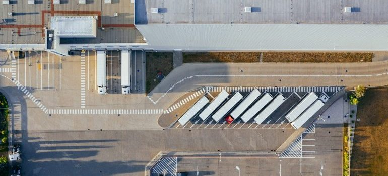 Warehouse from bird perspective