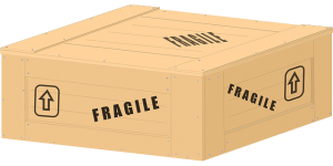 A box marked 'fragile'