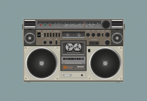 old cassette player radio
