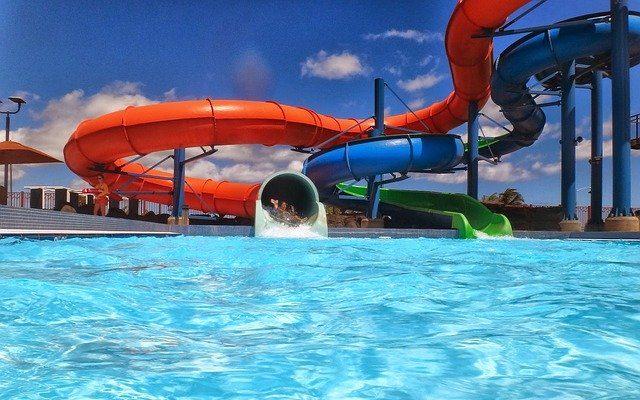 A slide in waterpark