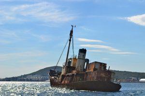 Rusty Somali pirate boat