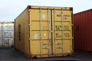 A container, you can fit a lot of things inside a freight container