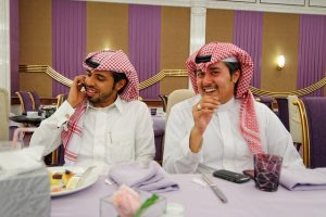 Two Saudis at a table