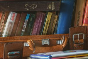 One of the packing hacks to save space: put your books into suitcases