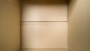 Inside of the cardboard box