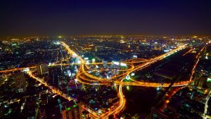 Picture of aerial view of Bangkok, one of the best cities for digital nomads to move to this year