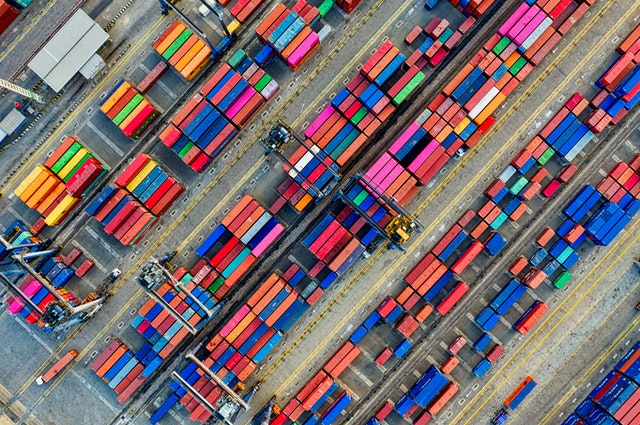 Colorful cargo containers of one of the best import export companies in Saudi Arabia