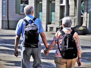 Old people walk