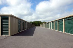 Picture of a storage unit - Consider renting one before you unpack into a small space