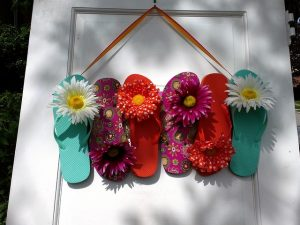 Old slippers re-purposed