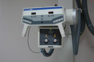 A part of an x ray machine