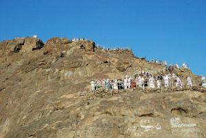 People climbing on rocks