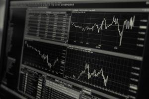 Picture of stock exchange indicators