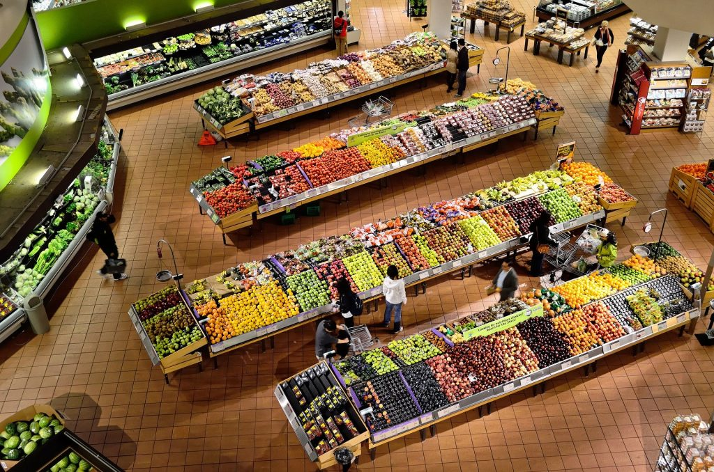 Picture of a supermarket