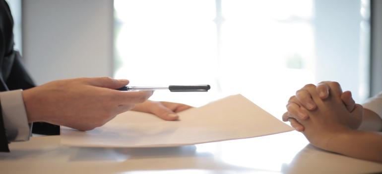 handling paperwork