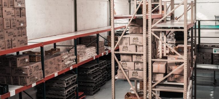 Many shipping companies offer storage facilities.