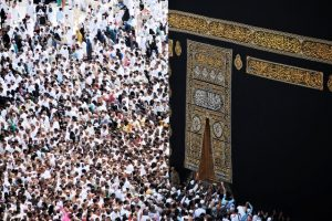 Mecca with a great number of believers