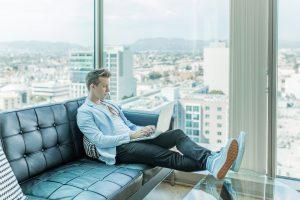 A man sitting in chair