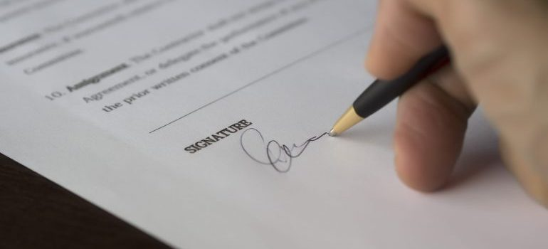 Read your contract carefully before signing it.