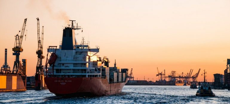 The shipping industry is affected by coronavirus.