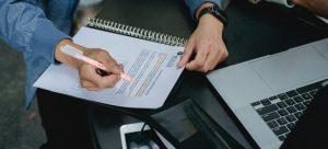 A man doing a paperwork.