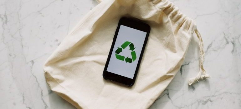 Eco-friendly sign on phone and material
