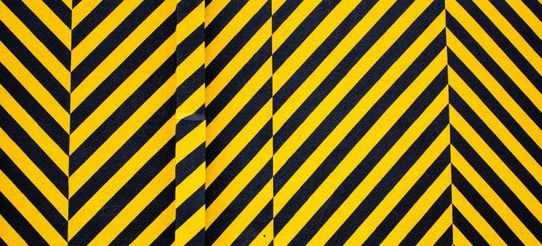 Hazard black-yellow stripes pattern
