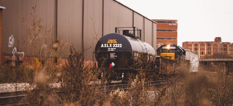 Tank on a railroad