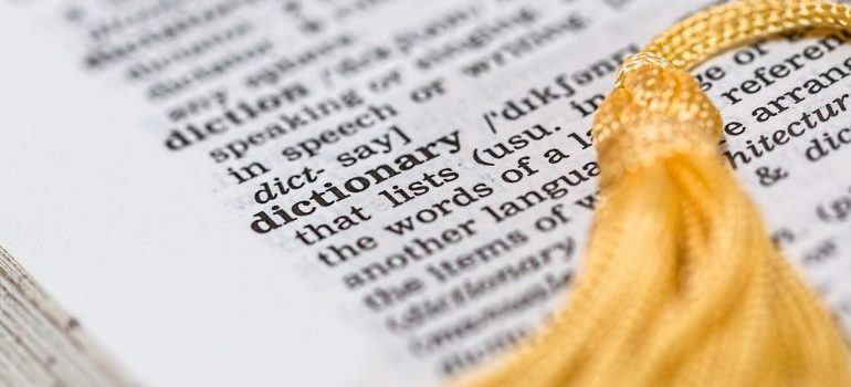 A dictionary that will help you learn the language as one of the best ways to get used to the new culture
