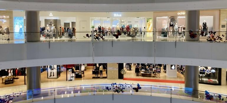 A shopping mall