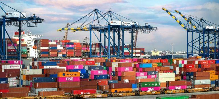 A stockpile of cargo